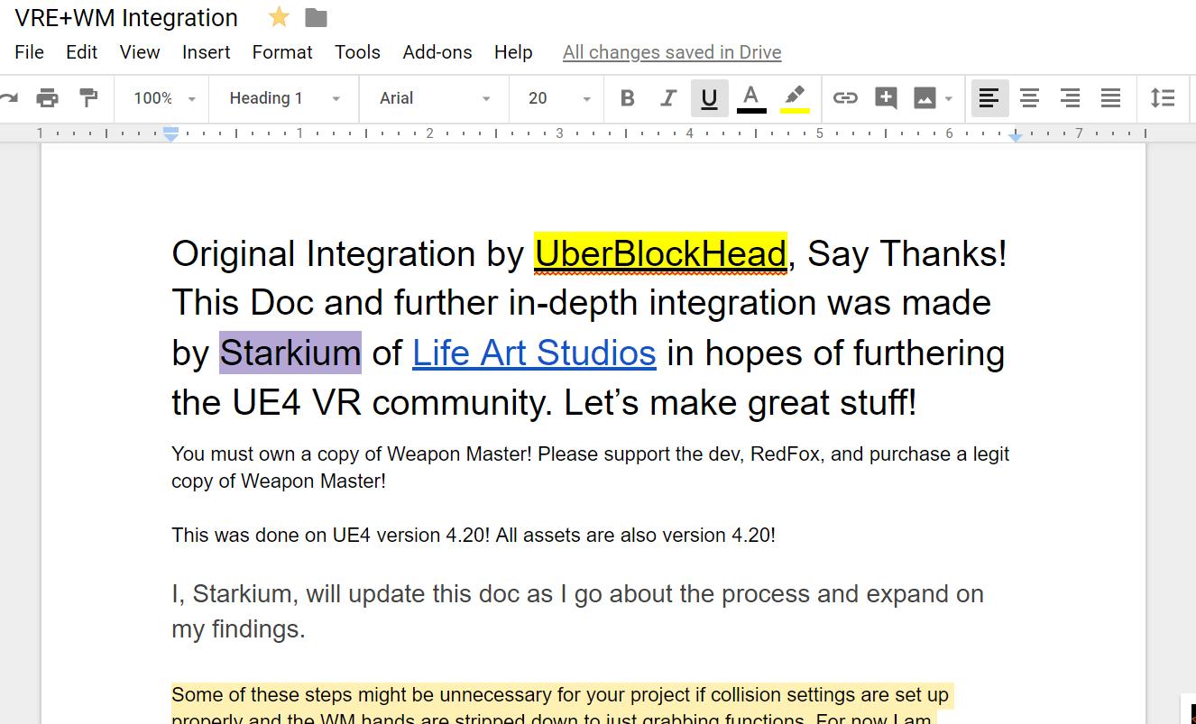 Something Helpful for the UE4 VR Community – Life Art Studios